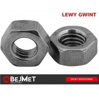 Nakrętka sześciokątna M8 DIN 934 A2 nierdzewna LEWY GWINT