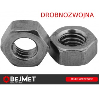 Nakrętka sześciokątna M20x1,5 DIN 934 A2 nierdzewna