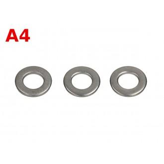 Podkładka płaska kwasoodporna M4 DIN 125 A4