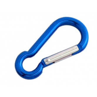 Karabińczyk aluminiowy kolorowy 5x50 niebieski