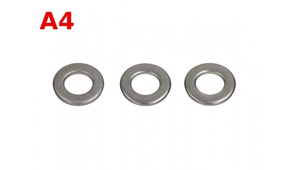 Podkładki płaskie DIN 125 A4