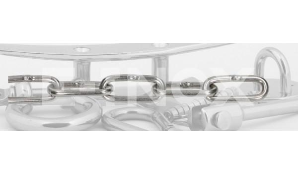 Łańcuch kwasoodporny DIN 763 A4 Długie oko